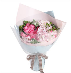 最美的旋律----苏醒粉玫瑰16枝