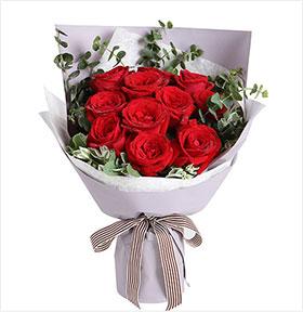 陪你幸福----9支玫瑰花束表白