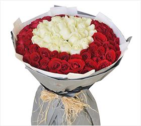 爱你到老----99支玫瑰花束求婚