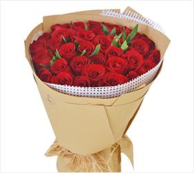 真爱如初----33支红玫瑰花束