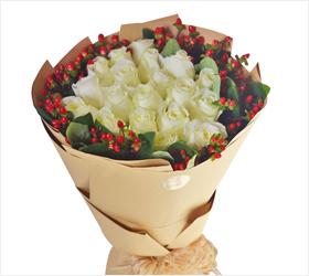 恰似你的温柔----19朵白玫瑰